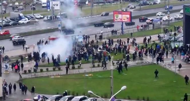 Belarus'taki hükümet karşıtı protestolarda 80 kişi gözaltına alındı