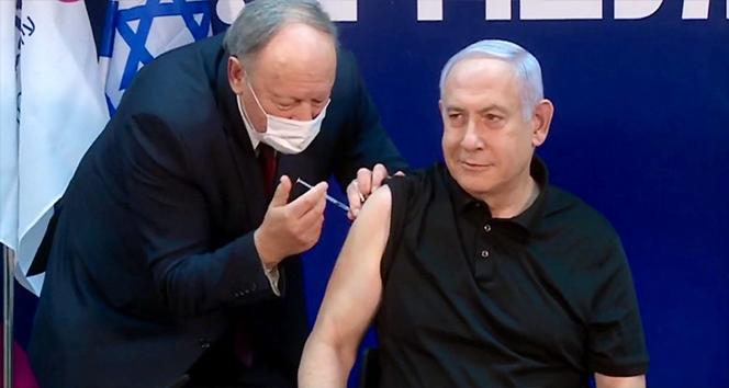 İsrail Başbakanı Netanyahu canlı yayında Covid-19 aşısı oldu
