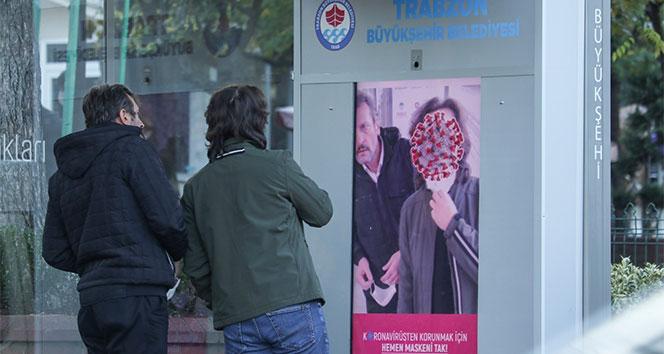 Trabzon'da yapay zeka ile maske takmayan vatandaşlar böyle uyarılıyor