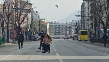Bursa'da cadde üzerinde