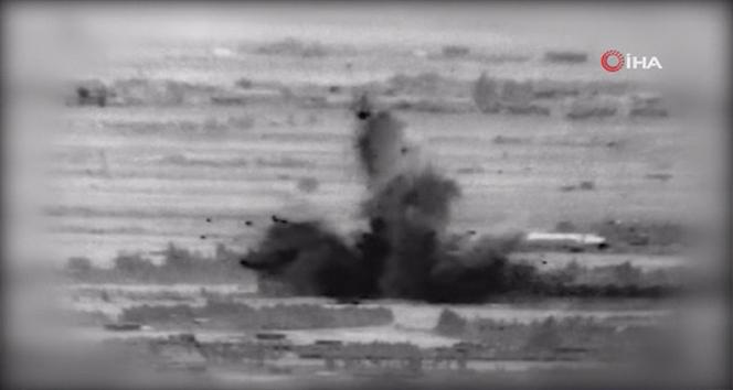 İsrail ordusu, Suriye'ye gerçekleştirdiği saldırıların görüntülerini yayınladı