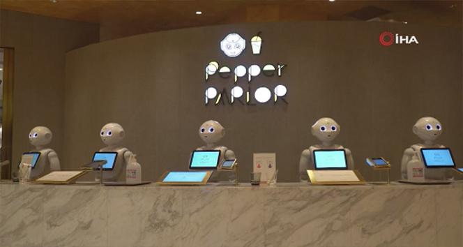 Japonya'da robot garsonlar görev başında