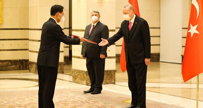 Cumhurbaşkanı Erdoğan, Çin Halk Cumhuriyeti Büyükelçisini kabul etti